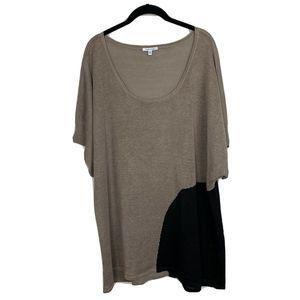 Lisa Todd Knit Linen Tunic Short Sleeve Sh…